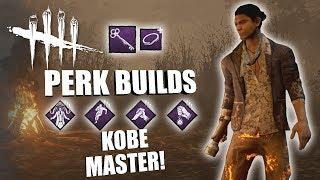 KOBE MASTER! | Dead By Daylight LEGACY SURVIVOR PERK BUILDS