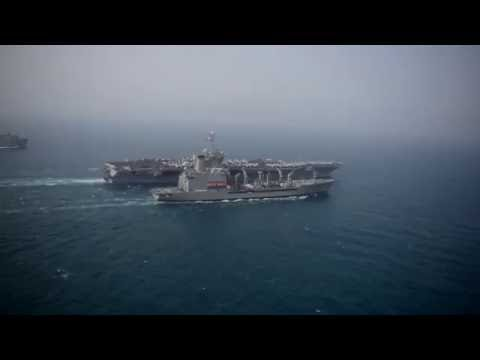 USS Harry S. Truman (CVN 75) replenishment at sea