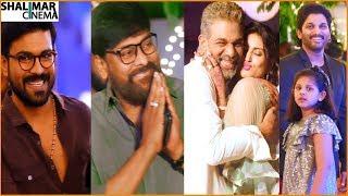 Mega Family At Allu Bobby Wedding Video Chiranjeevi, Ram Charan, Allu Arjun Shalimarcine ...