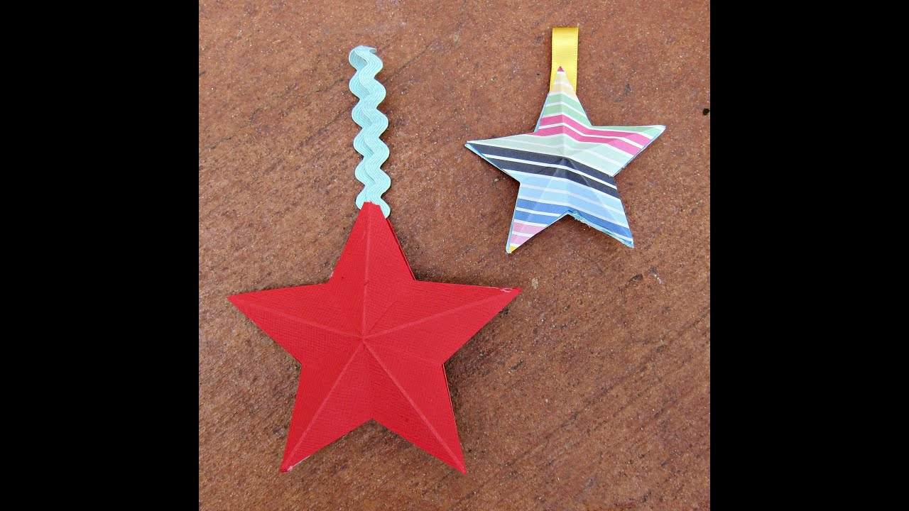 Christmas Star Craft Ideas Part - 21: Make 3D Paper Stars With American Crafts Papers - YouTube