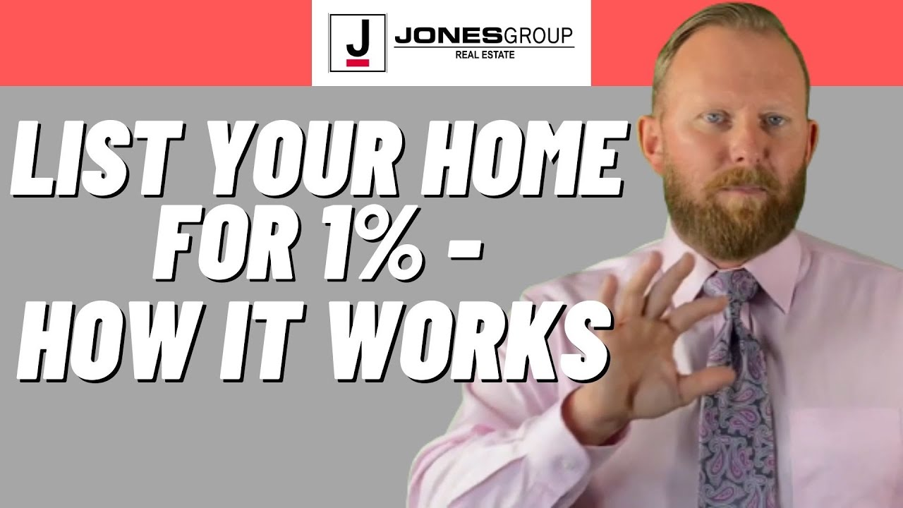 SELL YOUR HOME FAST FOR JUST 1%   LIST FOR 1%   JARED JONES   JONES GROUP REAL ESTATE