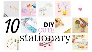 DIY 10 CUTE Stationary for School すぐ使えるかわいい&おもしろい文房具アイデア