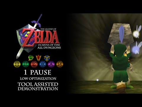 Ocarina Of Time All Dungeons In 1 Pause By Mubbsy (LOTAD)[Commentated]