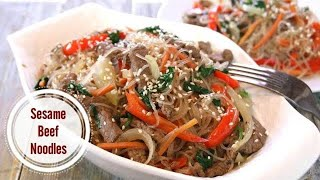 Sesame Beef Noodles in 30 Minutes
