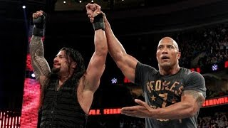 The Rock Returns And Helps Roman Reigns Win The 2015 Royal Rumble