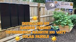 Solar Panels : Installing my Thunderbolt Magnum 100 Watt Solar Panels : Harbor Freight