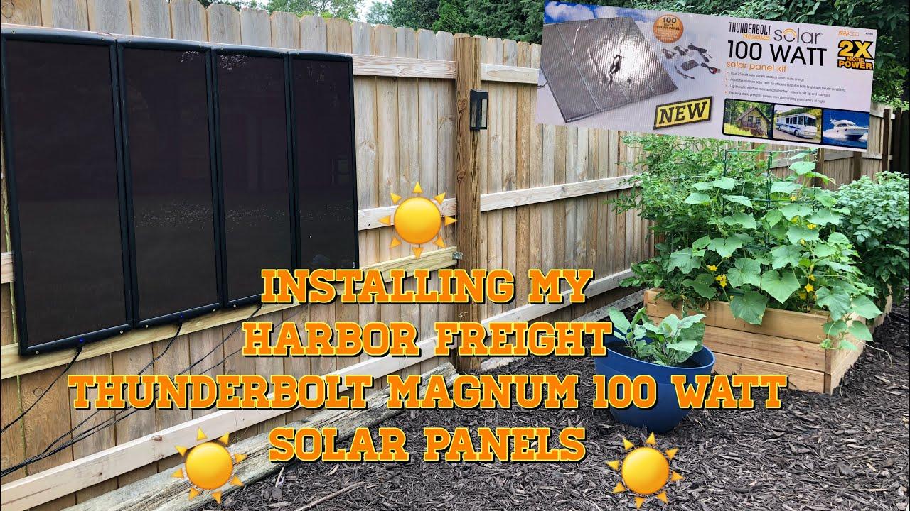 Solar Panels Installing My Thunderbolt Magnum 100 Watt Solar Panels Harbor Freight Youtube