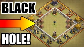 BIGGEST BLACK WHOLE TROLL BASE EVER!! - Clash Of Clans TROLL WARS!!