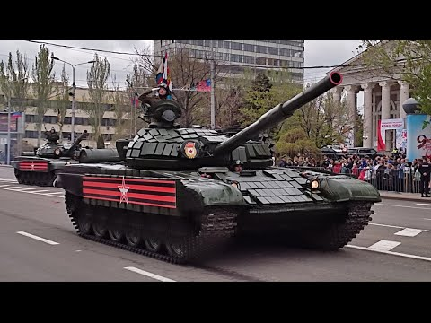 Anti Ukraine Donetsk Shows Their Military For Victory Day Parade