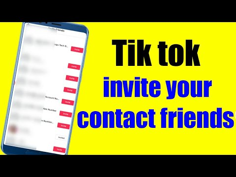 How To Invite Friends On Tiktok Invited Contact Friends On Tik Tok Youtube