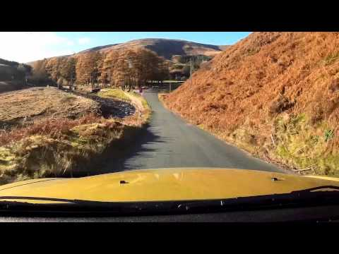 BMW Z4. Driving in the Forest of Bowland.