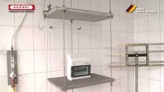 Wasserprüfung: senkrecht fallendes Tropfwasser / Test for protection against water - drip box