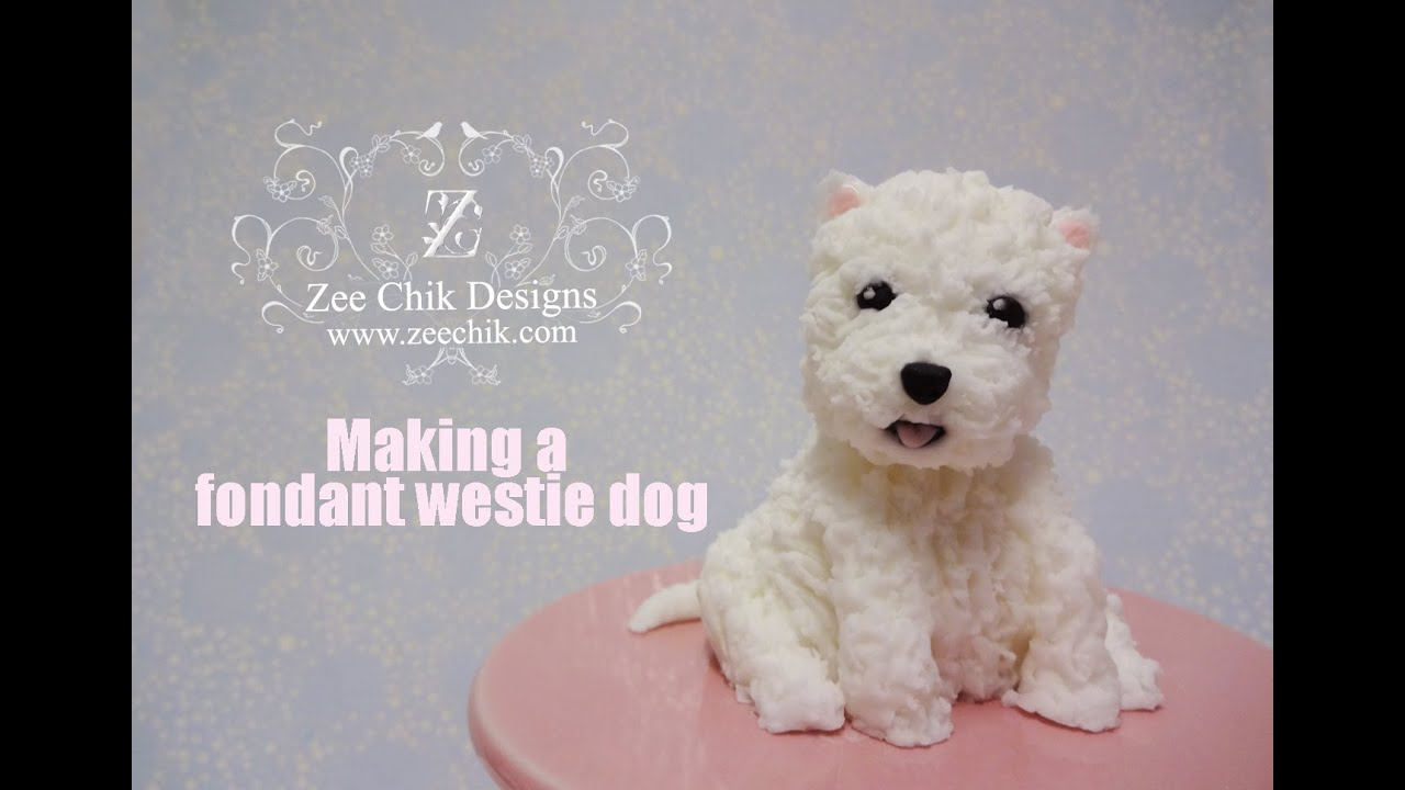 Westie Cake Topper Tutorial
