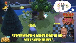 Hunting ALL of September's Most Popular Villagers! Unless... | Animal Crossing New Horizons