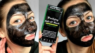 Shills Black Mask [ Review + Demo ] MOST PAINFUL MASK EVER !(OPEN THE WRAPPER.... In this Video I have used the BLACK MASK from