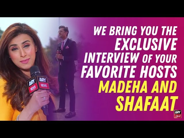 Exclusive interview with Bakhabar Savera hosts, Syed Shafaat Ali and Madeha Naqvi