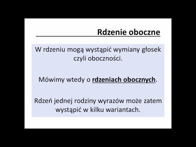Słowotwórstwo część 5 - Rodzina wyrazów - YouTube