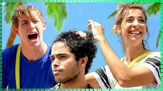 Styling a Stranger's Hair Challenge?!! | Do it for the Dough w/ Gabbie Hanna & Josh Killacky
