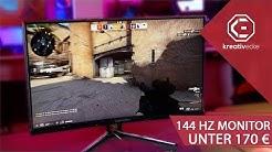 RICHTIG SCHNELLER 144 Hz Gaming Monitor für UNTER 170 EURO! LC POWER LC-M24-FHD-144-C im Test