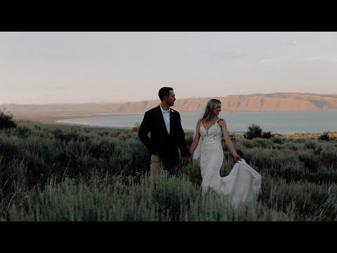 Hunter & Janelle | Wedding at Bear Lake | Fish Haven, Idaho | Filmed on the Canon R6