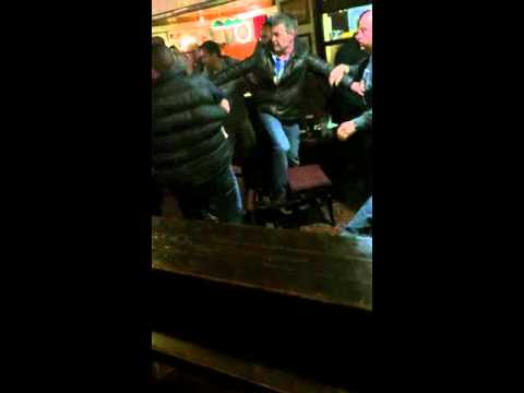 Liverpool vs manchester city pub brawl