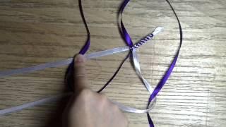 Как сделать узел для фенечки из лент