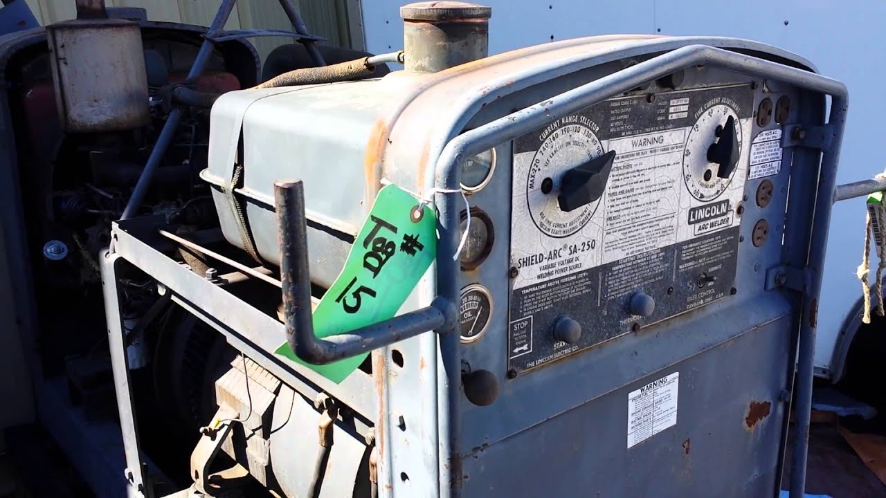 lincoln sa 250 d3 152 trailer dc arc welder perkins diesel pipeliner 1981 shield [ 1280 x 720 Pixel ]