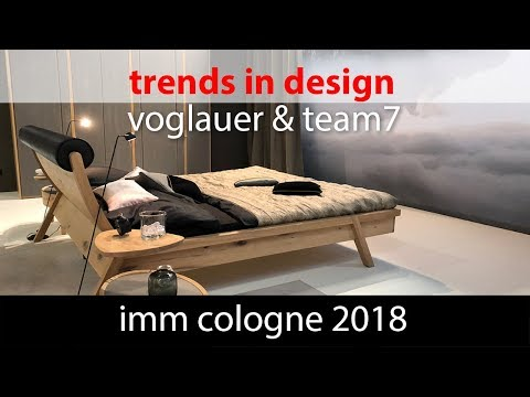 Тренды в дизайне. IMM Cologne 2018 Voglauer and Team7