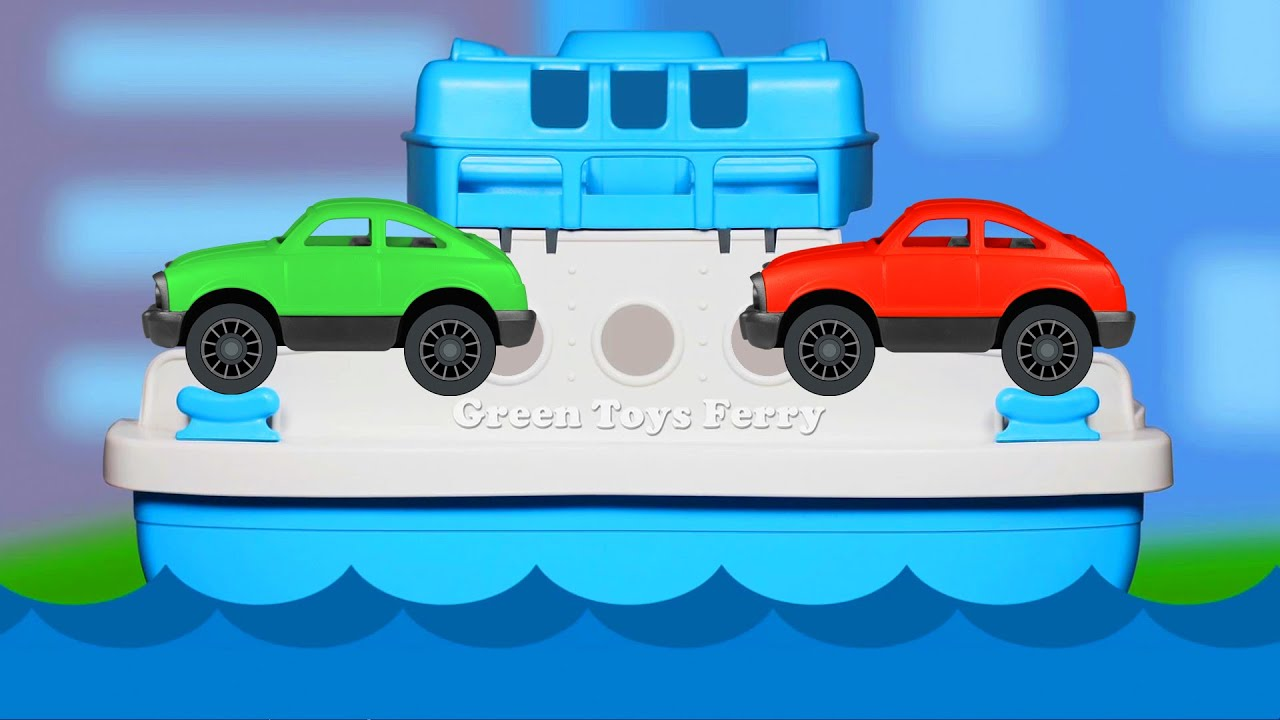 Green Toys Ferry Boat Teaching Colors - Learning Basic Colours Video ...