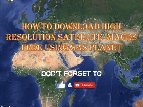 Download free satellite imagery using sas.planet