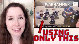 Painting Minis for Beginners - Space Marines Using the New Warhammer Paint Set