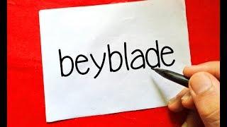 "How To Turn Words "" Beyblade "" into Cartoon - Wordtoon #22"