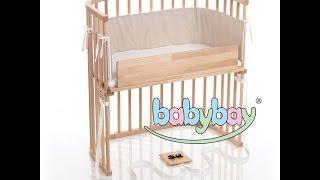 360 View of The Trendsetter - babybay® Bedside Sleeper - Light Gloss