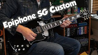 Epiphone SG Custom - Ebony With Gold Hardware - Inspired By Gibson Line