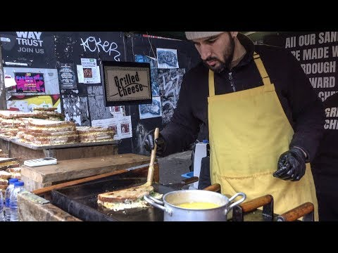 Huge Cheese Sandwiches and Melted Cheese. London Street Food