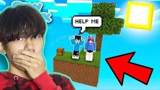 ជាប់នៅលើកោះមេឃជាមួយសង្សារក្នុង Minecraft Skyblock