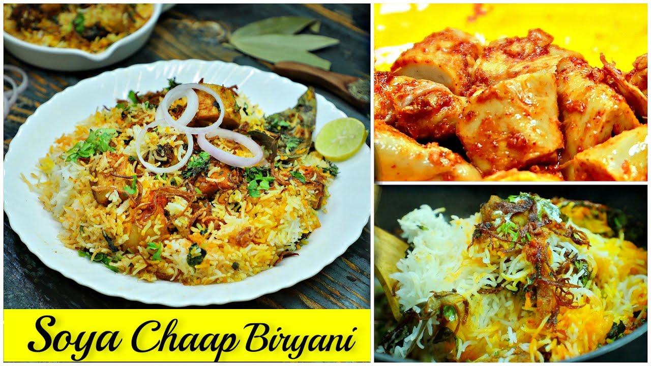 Soya Chaap Biryani in PRESSURE COOKER | CookWithNisha