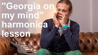 "Harmonica Songs - How to play ""Georgia on my mind"" on C harmonica part 1/2 + Free Harp Tab"