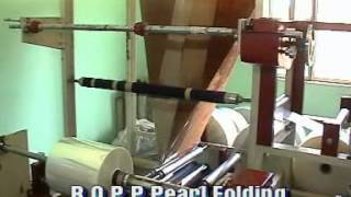 BOPP FILM AND PEARL FOLDING MACHINE