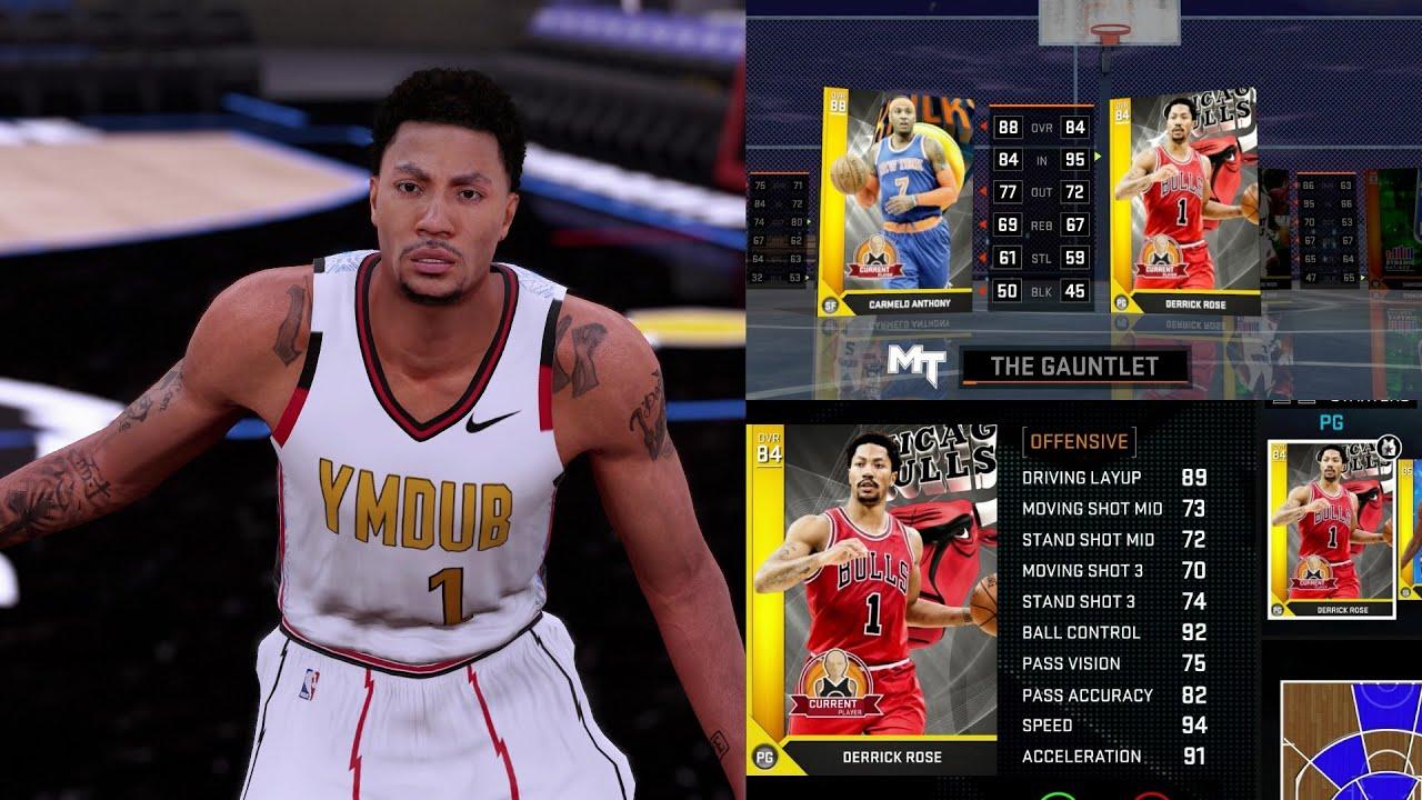 e66cc8707d93 NBA 2K16 PS4 MyTEAM GAUNTLET - DERRICK ROSE DEBUT vs CARMELO ANTHONY ...