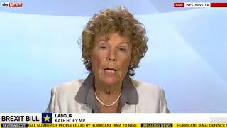 Kate Hoey: Labour making a mistake opposing Brexit bill