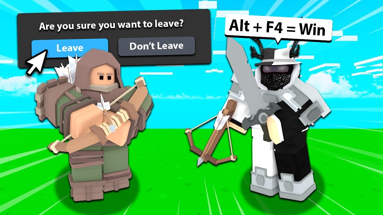 I Tricked Players into LEAVING Roblox Bedwars...
