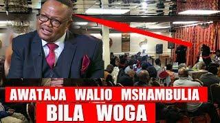 AKINUKISHA: TUNDU LISU kuwataja Waliomshambulia/AWEKA WAZI MWANZO MWISHO