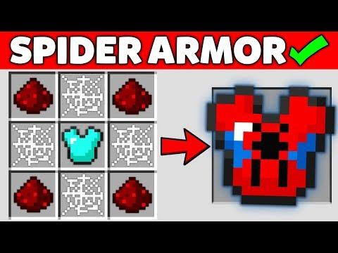 Minecraft Battle : HOW TO CRAFT SUPER SPIDER-MAN ARMOR OF GOD Challenge In Minecraft Animation
