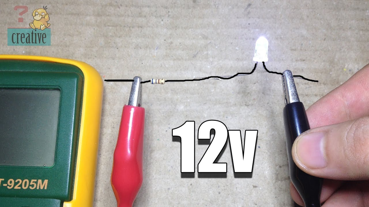 Use Led Light With 12v Dc Using Resistor Youtube