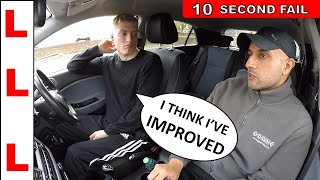 QUICKEST EVER DRIVING TEST FAIL - 10 SECONDS!