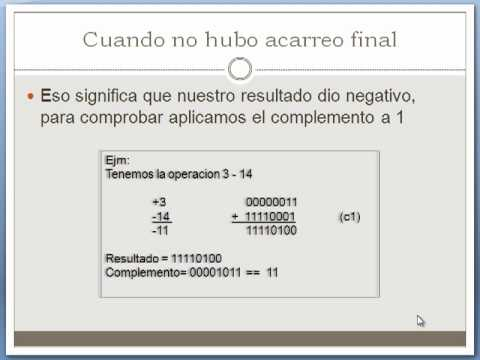 complemento a 1 y a 2  YouTube