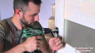 Как правильно врезать замок и дверную ручку в межкомнатную дверь