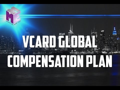 30 Day Free Trial Business Card - vCard Global Compensation Plan Earn Money  -  Marketing Made Easy
