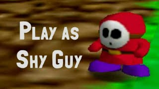 Play as Shy Guy in SM64